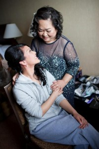 Jenelle with her mom, Tita Tessie, just before her wedding